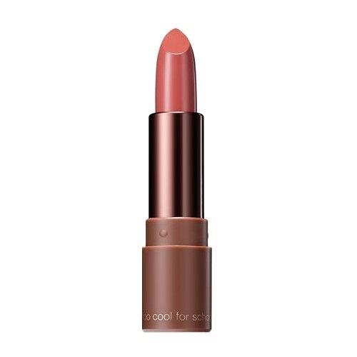 Too cool for School помада для губ Glam Rock Hush Brown Velvet Matte Lipstick матовая, оттенок 03, Moderate