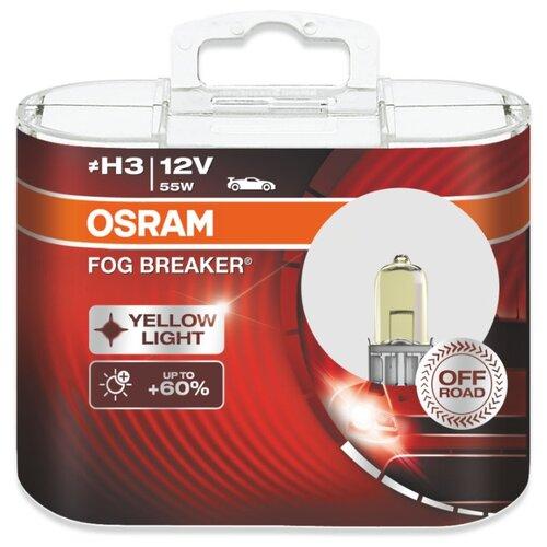 цена на Лампа автомобильная галогенная Osram Fog Breaker 62151FBR H3 12V 55W 2 шт.