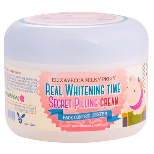 Elizavecca пилинг-крем для лица Milky Piggy Real Whitening Time Secret Pilling Cream 100 г осветляющий крем с эффектом пилинга elizavecca milky piggy real whitening time secret peeling cream