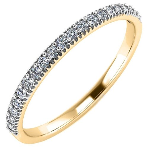 POKROVSKY Золотое кольцо с фианитами 0101407-00770, размер 16