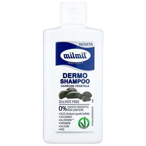 Milmil шампунь Dermo Carbone vegetale 300 мл onykoleine dermo adjuvant купить в москве