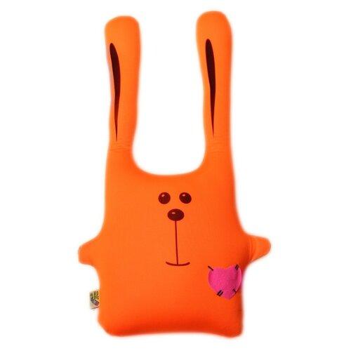 Купить Подушка-игрушка антистресс Штучки, к которым тянутся ручки Заяц Ушастик оранжевый 43 см, Мягкие игрушки