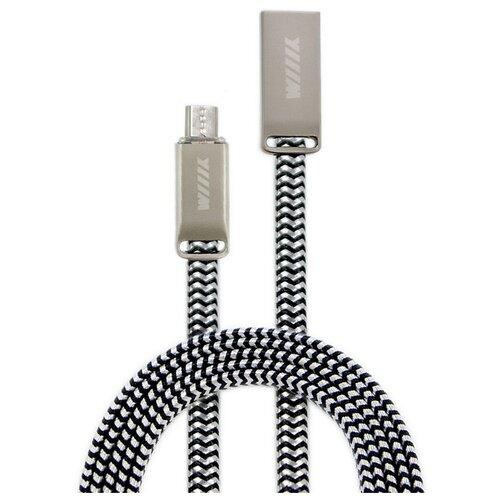 Кабель WIIIX USB - microUSB (CB955-2А-UMU-SK-12) 1.2 м серебряный шелк