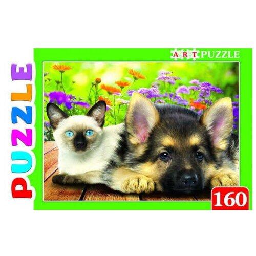Купить Пазл Рыжий кот Artpuzzle Сиамский котенок и щенок (ПА-4572), 160 дет., Пазлы
