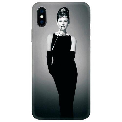 Чехол Mitya Veselkov IP10.MITYA-025 для Apple iPhone X Одри в черном платье