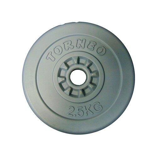 Диск Torneo в пластиковом корпусе 2.5 кг (1008-25) серый torneo блин torneo в пластиковом корпусе 10 кг