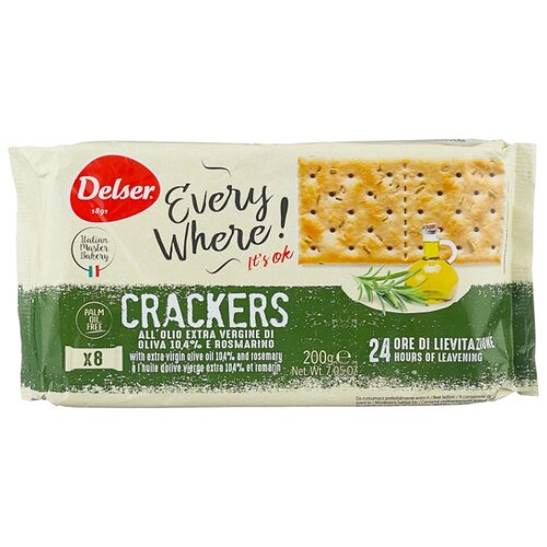 Крекеры Delser Crackers Mediterraneo с розмарином и оливковым маслом, 200 г