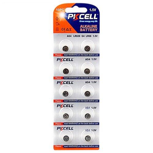 Батарейка PKCELL Super Akaline Button Cell AG4 10 шт блистер