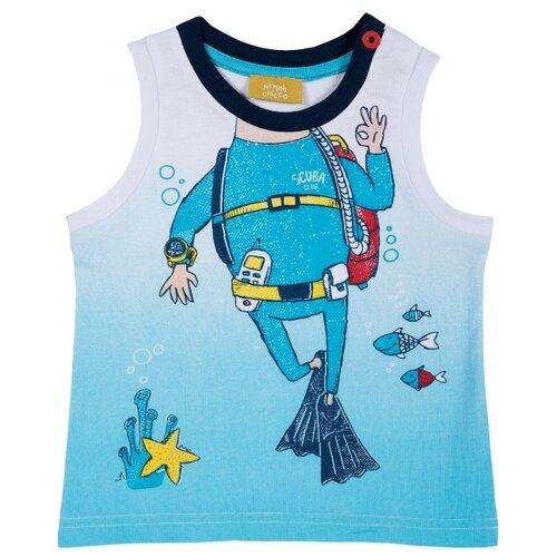 Купить Майка Chicco, размер 86, голубой, Футболки и рубашки