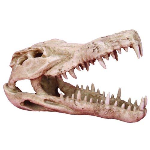 Фигурка для аквариума Prime Череп крокодила 25х15.2х15.2 см бежевый