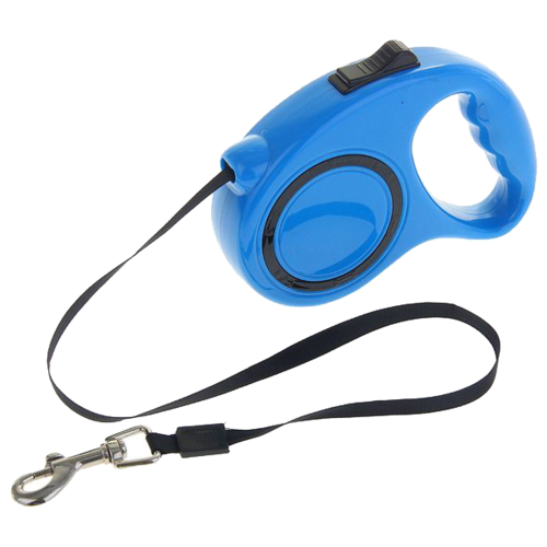 Поводок-рулетка для собак Пижон эргономичная, до 11,5 кг синий 3 мПоводки для собак<br>