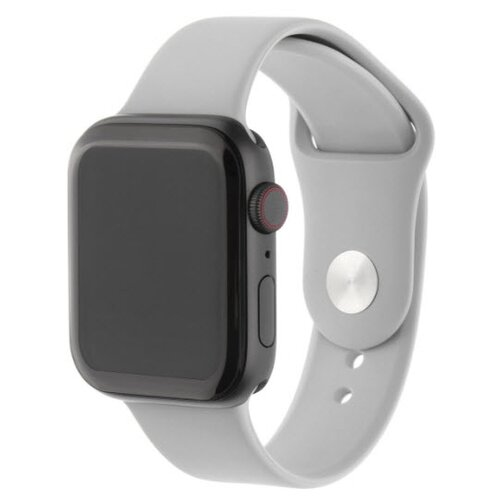 INTERSTEP Ремешок SPORT для Apple Watch 42/44 мм, силикон светло-серый