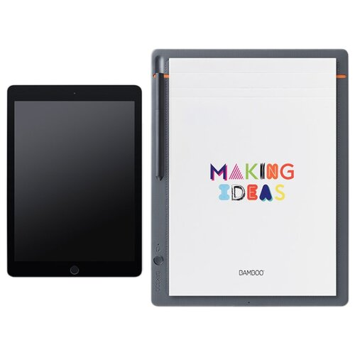 Фото - Интеллектуальный блокнот WACOM Bamboo Slate A4 (CDS-810S) серый стилус wacom bamboo duo