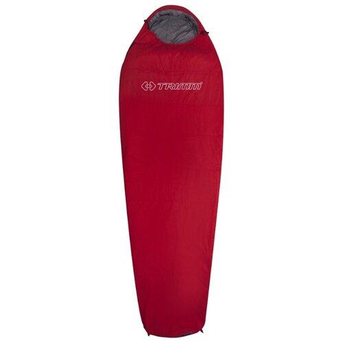 Спальный мешок TRIMM Summer 185 red с правой стороны
