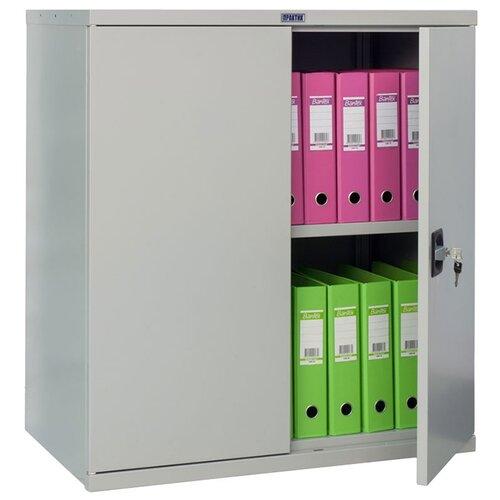 Шкаф архивный ПРАКТИК СВ-13 85x50x93 см серый полуматовый (RAL 7038)