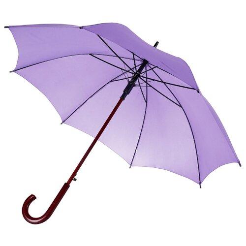 Зонт-трость полуавтомат Unit Standard (393) сиреневый зонт unit standard red