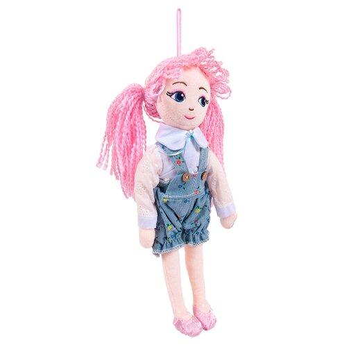 Мягкая игрушка ABtoys Кукла с розовыми волосами в шортах 35 см