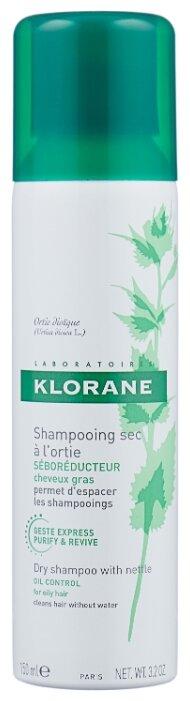 Сухой шампунь Klorane с экстрактом крапивы, 150 мл
