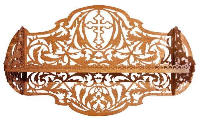 Полка для икон СИМВОЛИК 023плк003 62х24 см , коричневый