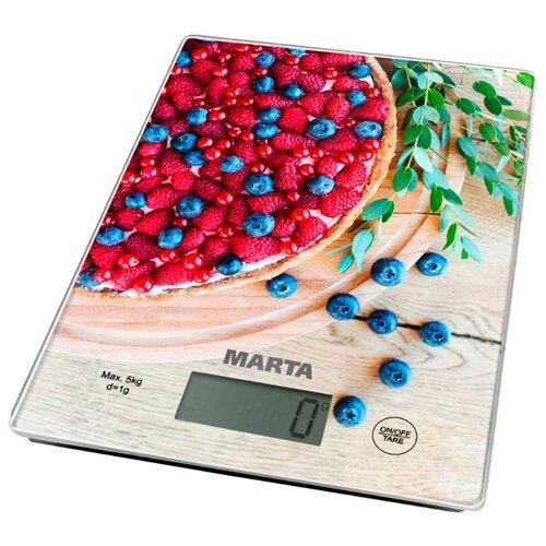 Кухонные весы Marta MT-1634 ягодный пирогКухонные весы<br>
