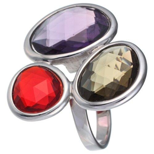 JV Кольцо с стеклом из серебра B3125-US-003-WG, размер 17 jv кольцо с ювелирным стеклом из серебра b3198 us 011 wg размер 17 5