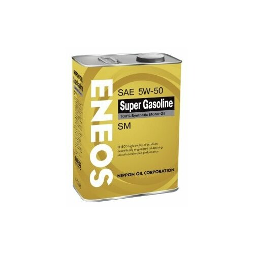 Моторное масло ENEOS Super Gasoline SM 5W-50 4 л 5w30 легковое масло моторное eneos super gasoline sl 5 30 200 л