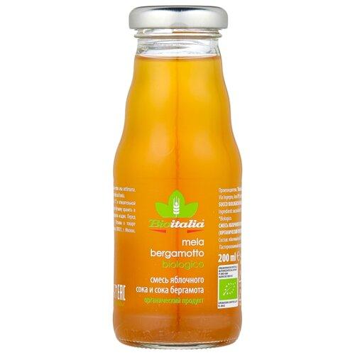 Сок Bioitalia Яблочный с бергамотом, без сахара, 0.2 л noyan яблочный сок premium 200 мл