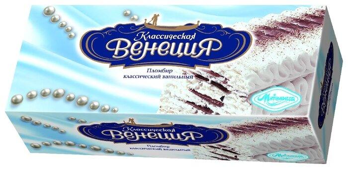 Мороженое Классическая Венеция пломбир ваниль с шоколадной прослойкой 450 г