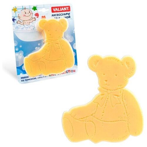 Коврик для ванной Valiant Медвежонок желтый коврик для ванной valiant valiant mp002xu02laf