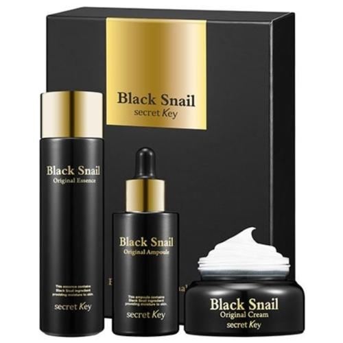 Купить Secret Key Black Snail Original Set Набор: эссенция для лица 150мл + сыворотка для лица 50мл + крем для лица 50мл