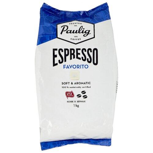 Кофе в зернах Paulig Espresso Favorito, арабика/робуста, 1 кг кофе в зернах paulig arabica 250г