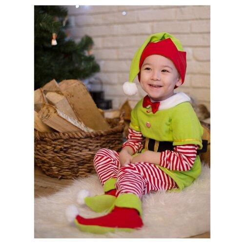 Костюм Baby-suit Эльф (DK38.1), зеленый/красный, размер 62