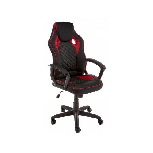 Фото - Компьютерное кресло Woodville Raid офисное, обивка: текстиль/искусственная кожа, цвет: черный/красный компьютерное кресло woodville rich офисное обивка искусственная кожа цвет коричневый