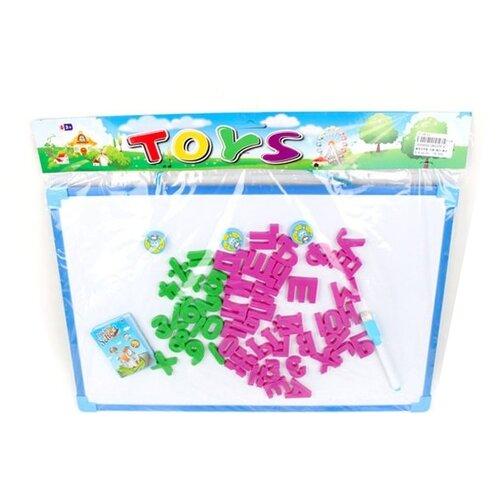 Купить Доска для рисования детская Наша игрушка с набором букв и цифр (28037E-4) синий, Доски и мольберты