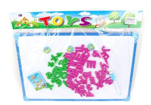 Доска для рисования детская Наша игрушка с набором букв и цифр (28037E-4)