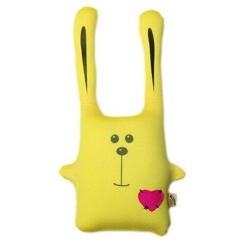 Купить Подушка-игрушка антистресс Штучки, к которым тянутся ручки Заяц Ушастик желтый 43 см, Мягкие игрушки