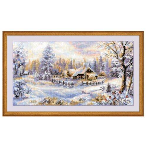 Купить Риолис Набор для вышивания крестом Зимний вечер 41 x 23 (1427), Наборы для вышивания