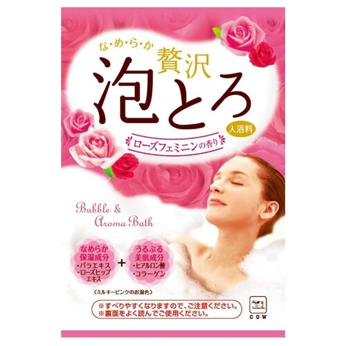 Cow Brand Пенящаяся соль для ванн Роскошная роза, 30 г