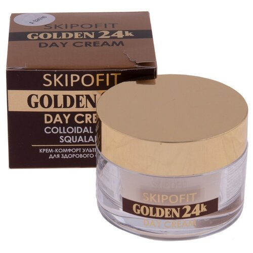 Skipofit Skipofit Golden 24k Крем для лица дневной с золотом Скипофит, 30 мл skipofit молочко для снятия макияжа с золотом 150 мл