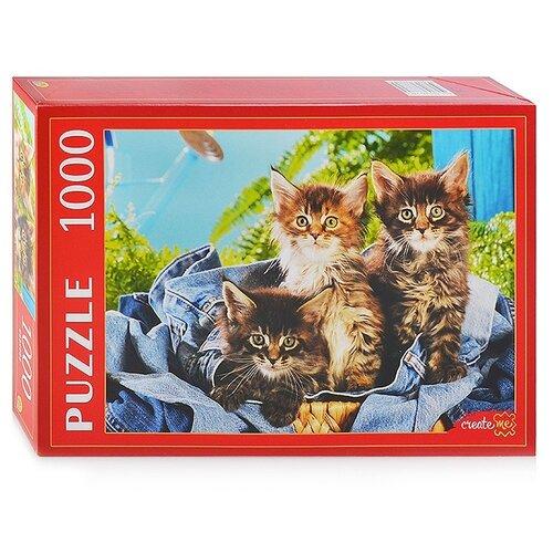 Фото - Пазл Рыжий кот Котята в корзине (КБ1000-7882), 1000 дет. пазл рыжий кот konigspuzzle россия йошкар ола гик1000 6534 1000 дет
