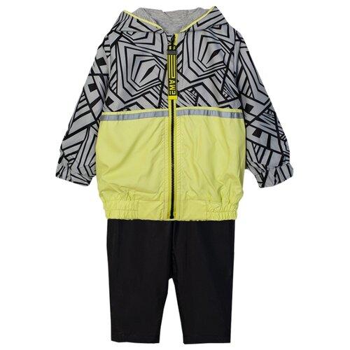 Комплект с брюками ЁМАЁ размер 92, серый/черный олимпийка ёмаё размер 92 черный