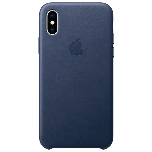 Купить Чехол Apple кожаный для iPhone XS темно-синий