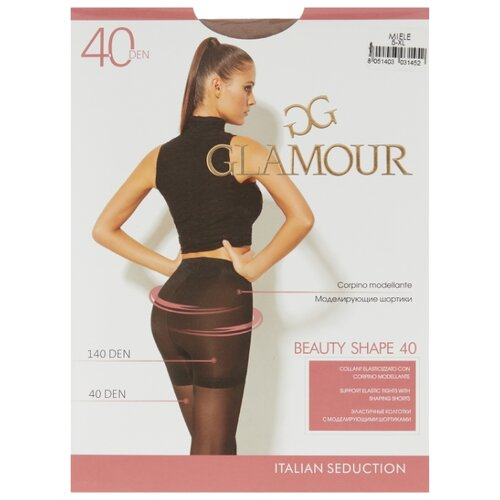 Колготки Glamour Beauty Shape 40 den, размер 5-XL, miele (бежевый) колготки glamour beauty shape 40 den размер 4 l daino бежевый