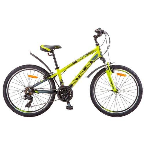 Подростковый горный (MTB) велосипед STELS Navigator 440 V 24 V030 (2019) лайм 13 (требует финальной сборки) велосипед stels navigator 440 v 13 kubc0049812018 синий