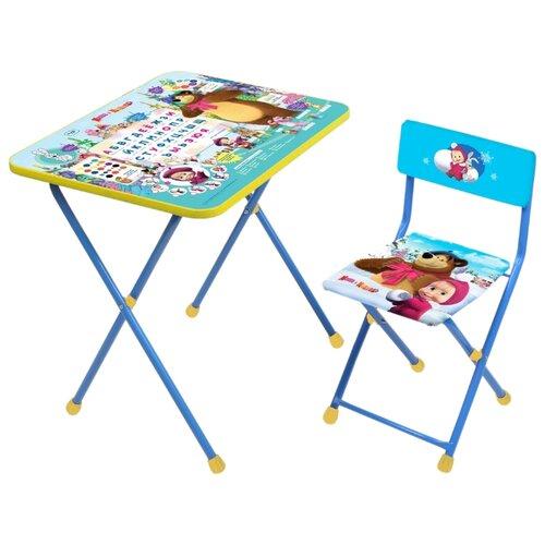 Купить Комплект Nika Азбука 2 (КП2/2) 60x45 см голубой/желтый, Парты и столы