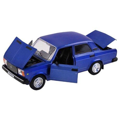Легковой автомобиль Автопанорама ВАЗ 2107 1:24 синий легковой автомобиль автопанорама мировые легенды ваз 2104 1 24 бежевый