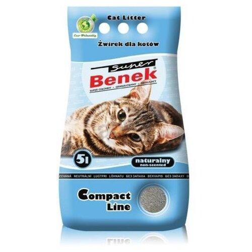 Комкующийся наполнитель Super Benek Компакт Натуральный (5 л) комкующийся наполнитель super benek компакт натуральный 5 л