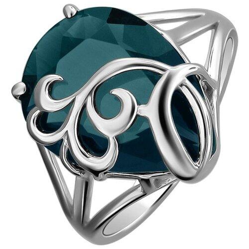 Эстет Кольцо с кварцами из серебра С19К25105-2, размер 17 ЭСТЕТ