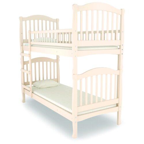 Двухъярусная кровать детская Nuovita Altezza Due, размер (ДхШ): 198х93 см, спальное место (ДхШ): 190х80 см, каркас: массив дерева, цвет: avorio