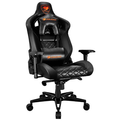 Компьютерное кресло COUGAR Armor Titan игровое, обивка: искусственная кожа, цвет: черный кресло компьютерное игровое cougar armor s b черный
